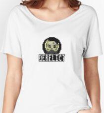 Derelict Sticker Logo Women's Relaxed Fit T-Shirt