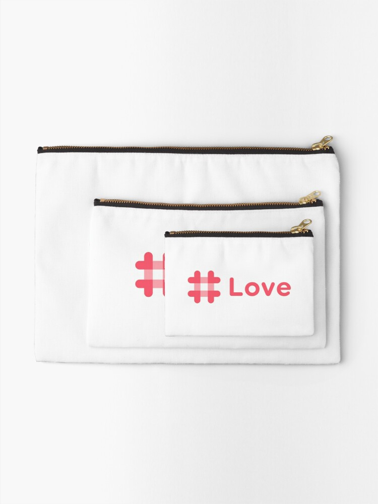 Alternate view of #love Zipper Pouch