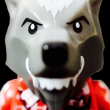Lego Wolf Guy minifigure by aaronslego