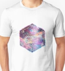 Watercolor and nebula sacred geometry  T-Shirt