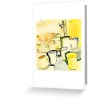 Water Beakers Greeting Card