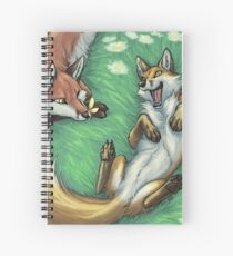 Playful foxes Spiral Notebook