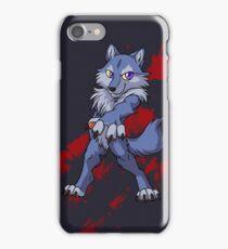 Cute anthro blue wolf iPhone Case/Skin