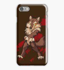 Cute anthro brown wolf iPhone Case/Skin