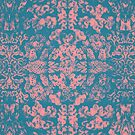 Great Barrier Reef ( pink ) coral pattern by Pepe Psyche