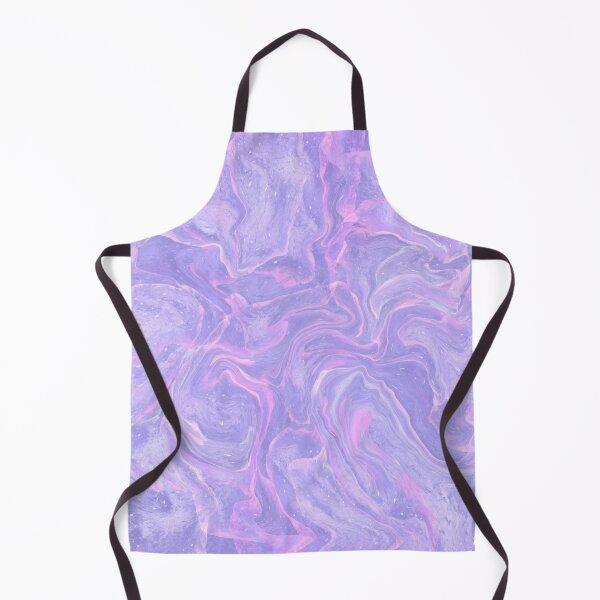 Neon Pastel purple marbled design Apron