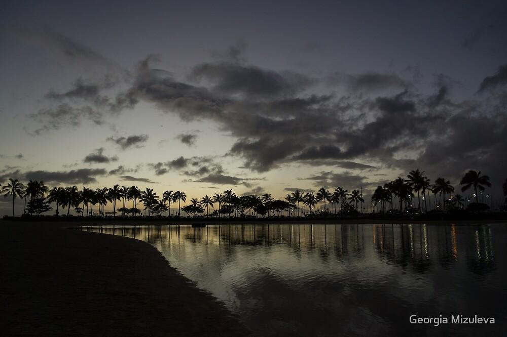 Hawaiian Sunset - Waikiki, Honolulu by Georgia Mizuleva