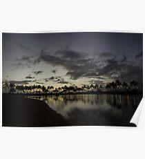 Hawaiian Sunset - Waikiki, Honolulu Poster
