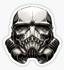 Skeleton Stormtrooper Helm Sticker