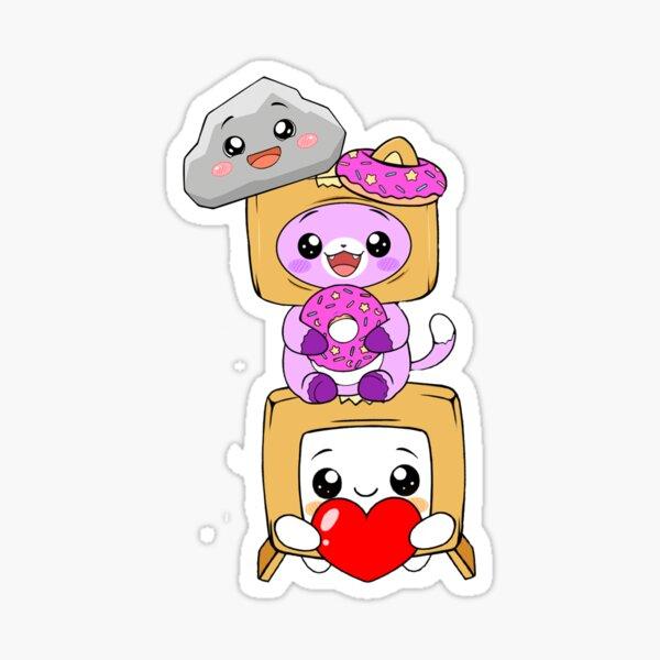 Happy rocky and foxy and boxy Sticker
