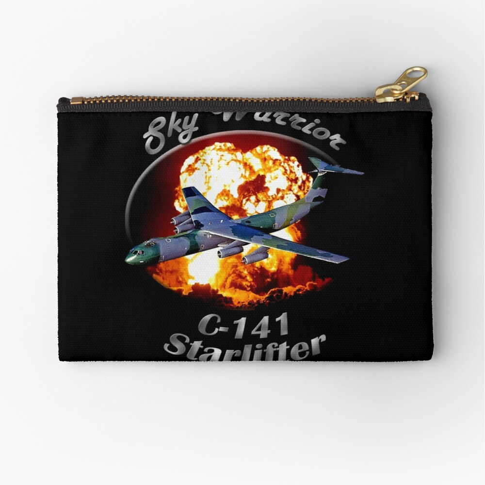 C-141 Starlifter Sky Warrior Zipper Pouch