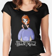 Black Metal Princess Women's Fitted Scoop T-Shirt