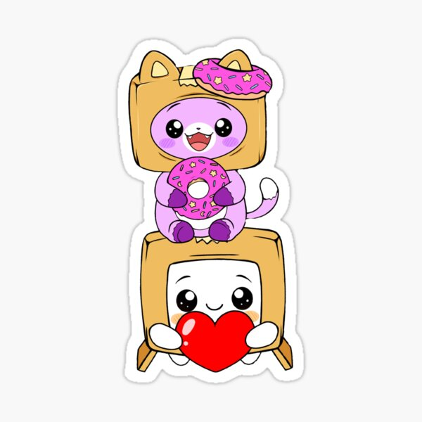 Happy foxy and boxy Sticker