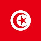 Tunisia Flag Stickers by Mark Podger