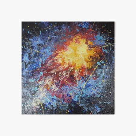 An Explosion of Color--Fashionable and Colorful Abstract Art Design Art Board Print