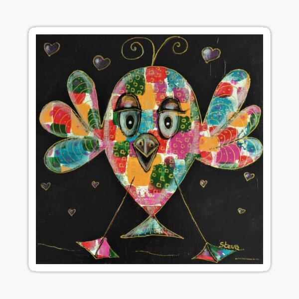 Poissonneau arlequin, acrylique sur toile 2020 Sticker