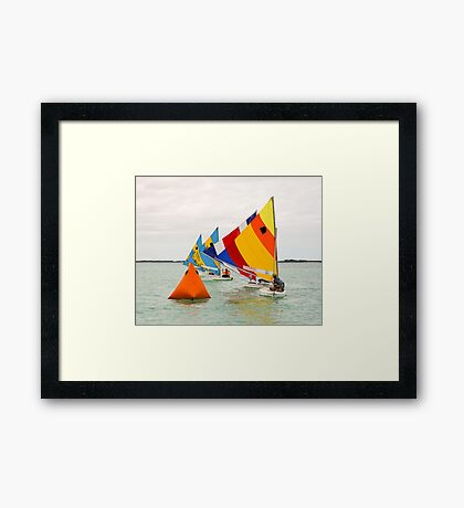 Racing In The Sea of Abaco Off Elbow Cay, Bahamas Framed Print