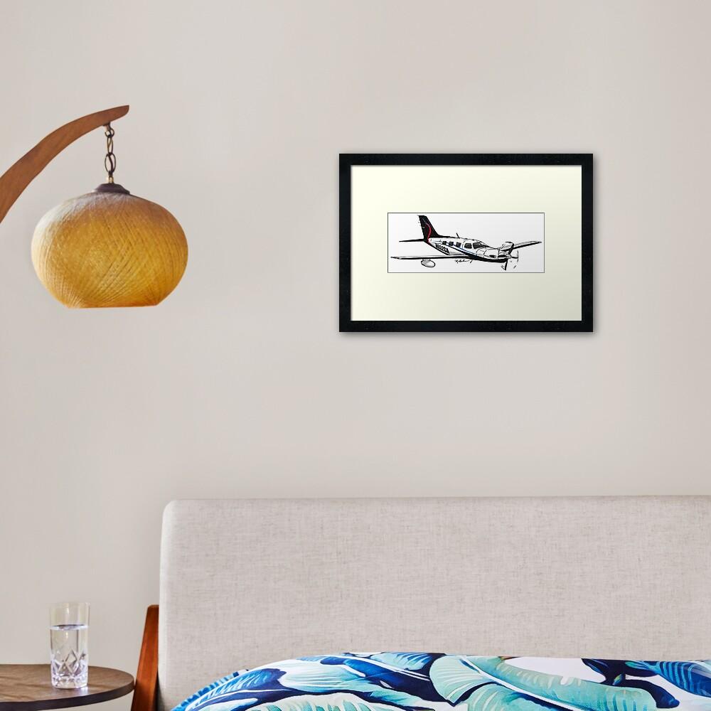 Piper Meridian N652CA Framed Art Print
