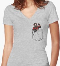 Ant Man in Pocket Women's Fitted V-Neck T-Shirt