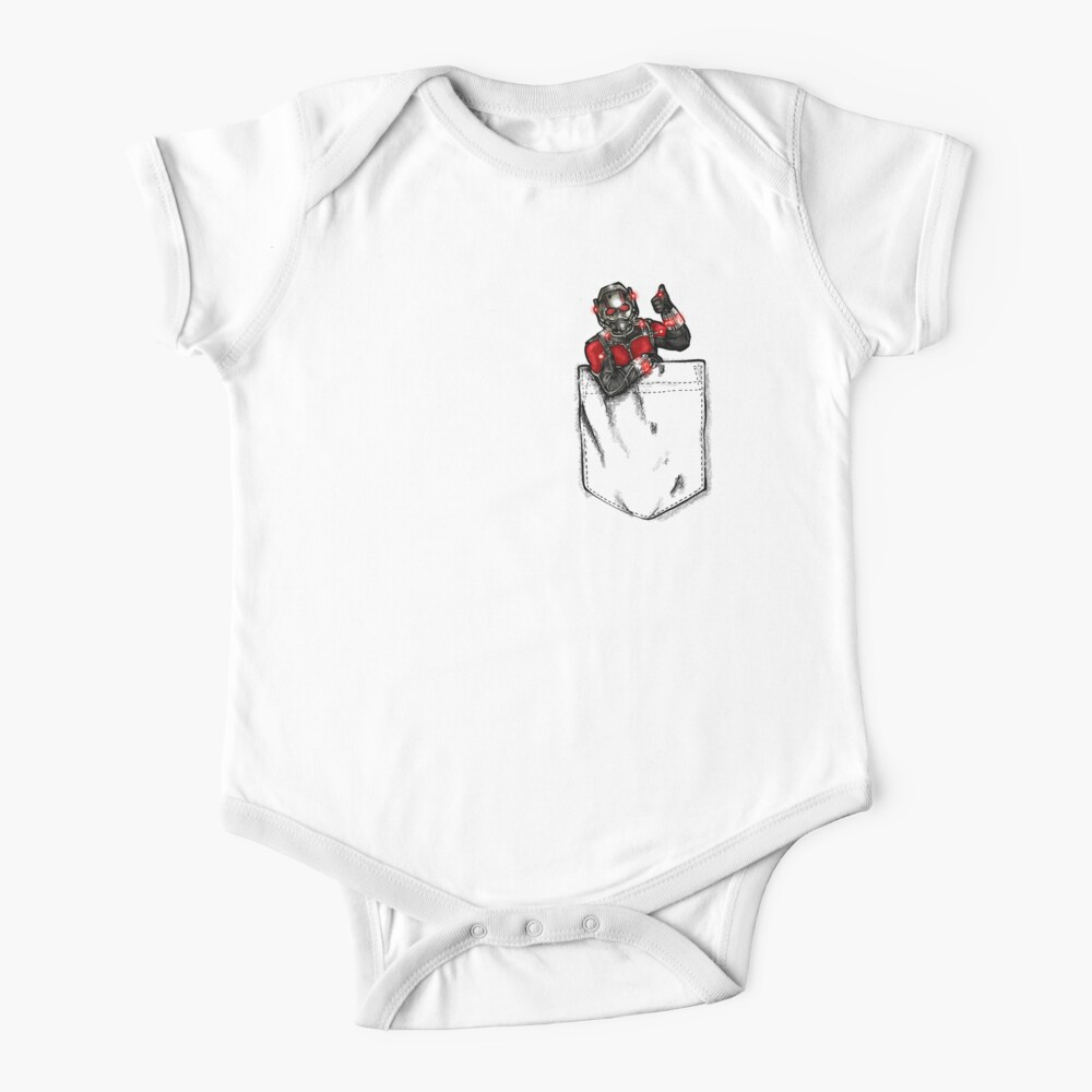 Ant Man in Pocket Baby One-Piece