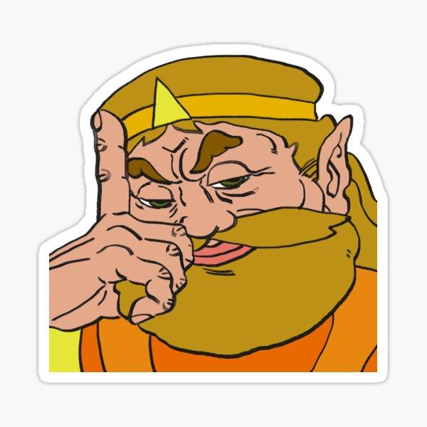Re-tirage de haute qualité du roi harkinien. il se demande ce qu'il y a pour le dîner. Sticker