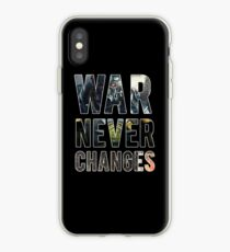 War Never Changes (Graphic Overlay) iPhone Case