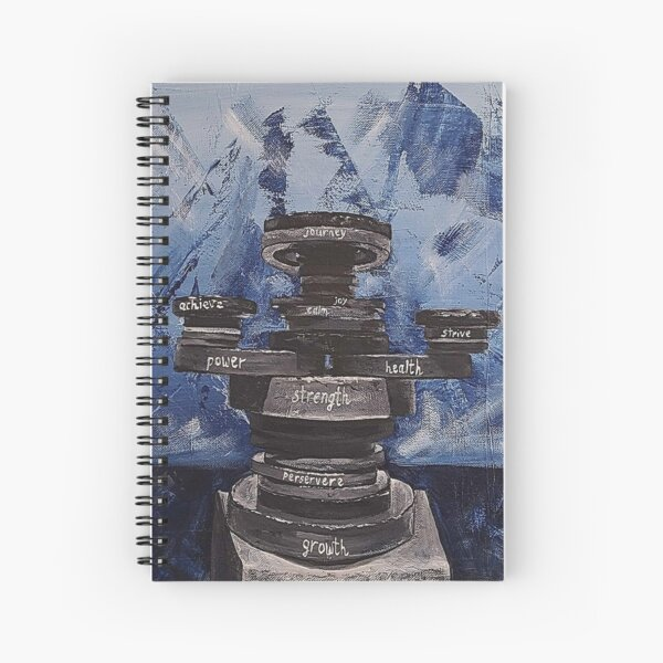 Mind, Body, Soul is an inspirational painting Spiral Notebook