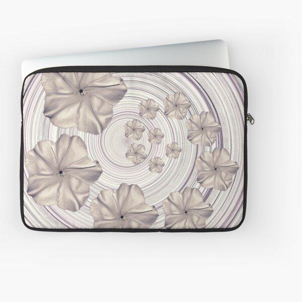 Spiral Creamy Moon Flower Swirl  Laptop Sleeve