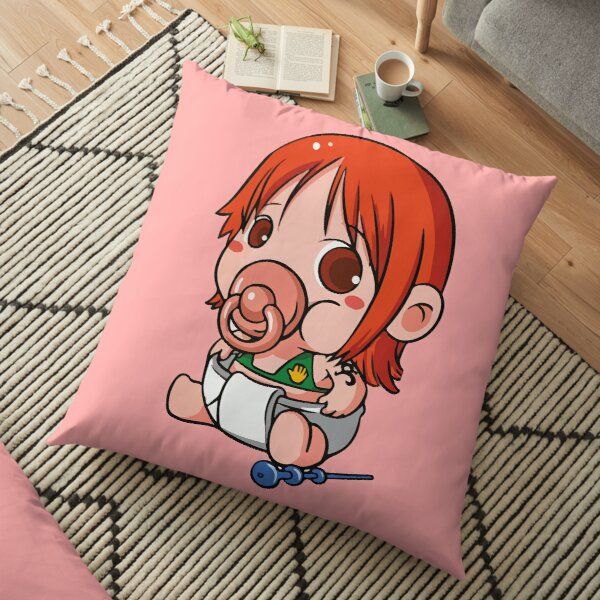 Nami T-Shirts Nami One piece Poster Cute nami one piece baby Sticker Floor Pillow