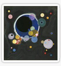 Kandinsky - Several Circles (Einige Kreise) Sticker
