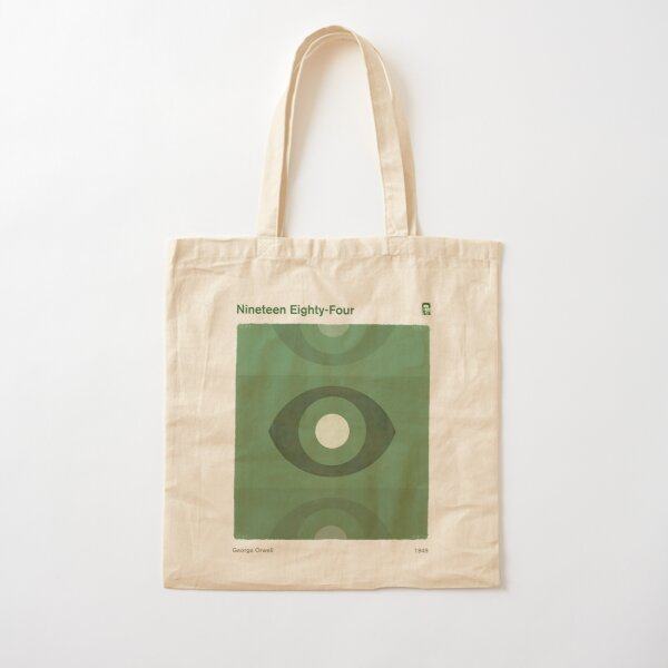 Nineteen Eighty-Four, George Orwell Dystopian Literary Minimalist Art for Book Lovers Cotton Tote Bag