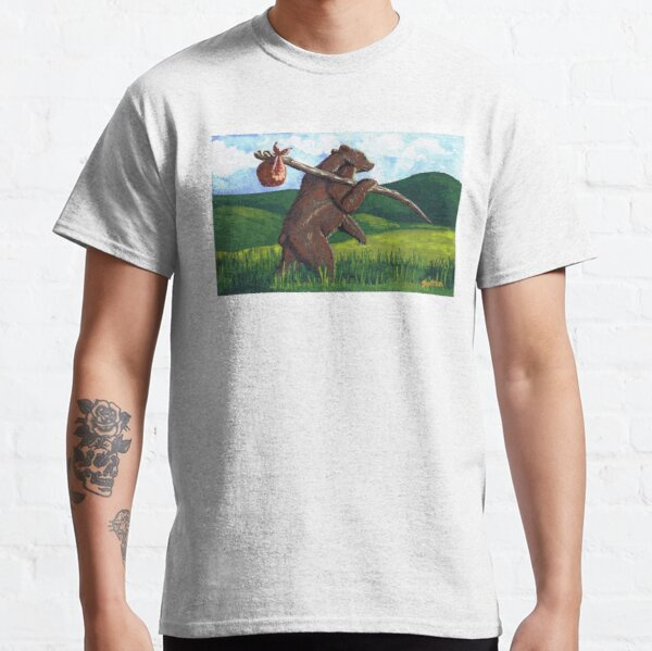 Bear with a Bindlestiff by Mary Bottom Classic T-Shirt