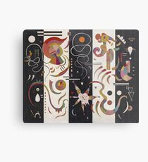 Kandinsky - Striped Metal Print