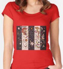 Kandinsky - Striped Women's Fitted Scoop T-Shirt