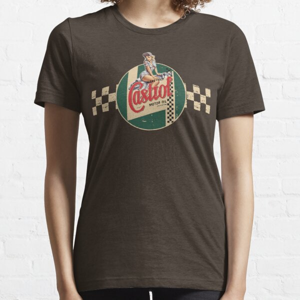 Castrol Vintage Racing Stripe Pin Up Girl T-shirt classique, sweat à capuche, autocollant, masque T-shirt essentiel