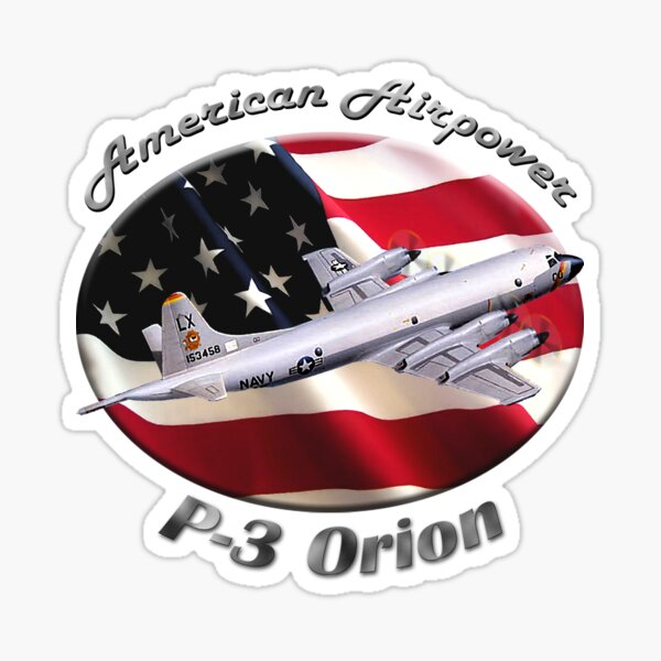 P-3 Orion American Airpower Sticker