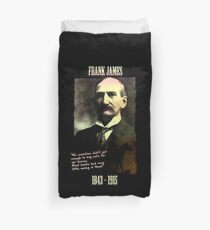Frank James: banks are the real crooks Duvet Cover