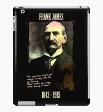 Frank James: banks are the real crooks iPad Case/Skin