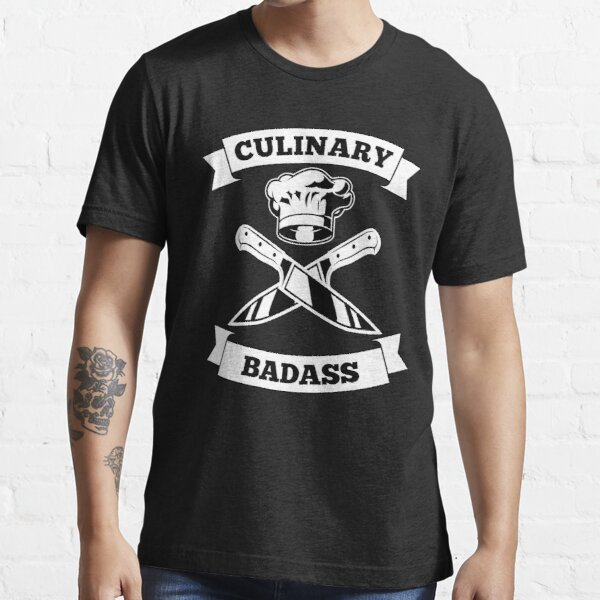 Culinary Badass Chef Cooking Hat Knife Essential T-Shirt