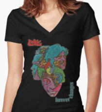 Love - Forever Changes + Logo Women's Fitted V-Neck T-Shirt