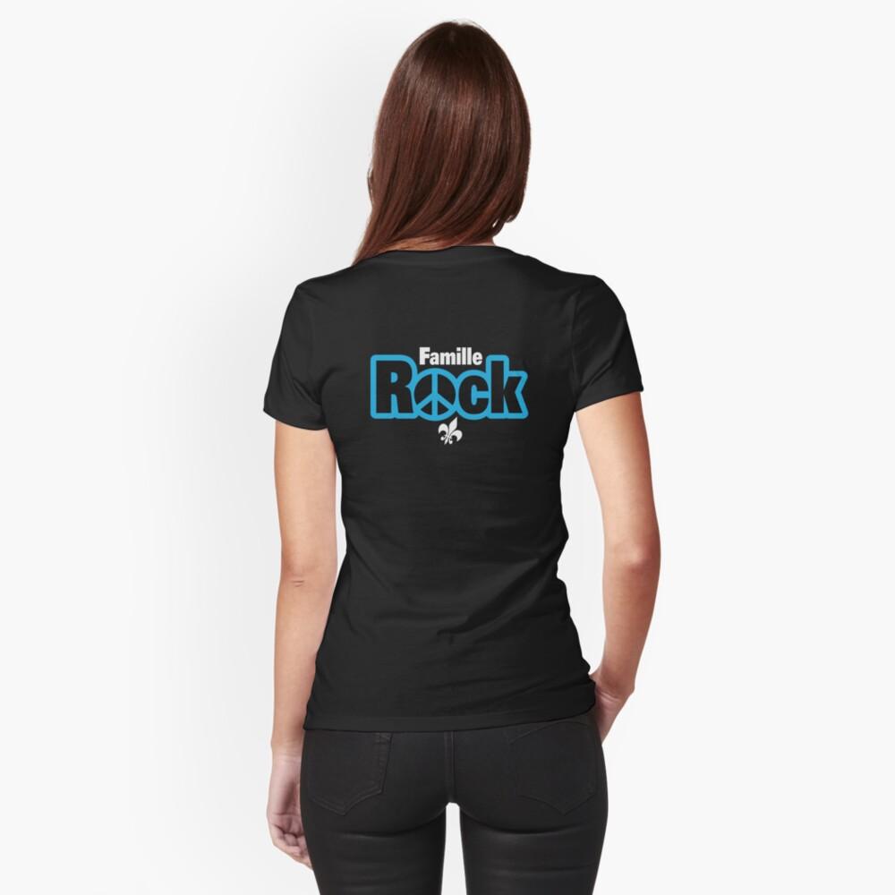 T-shirt moulant «Famille Rock Logo Boutique»
