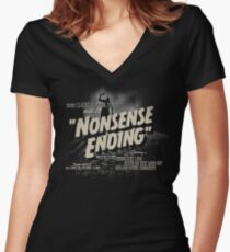 Nonsense Ending Women's Fitted V-Neck T-Shirt