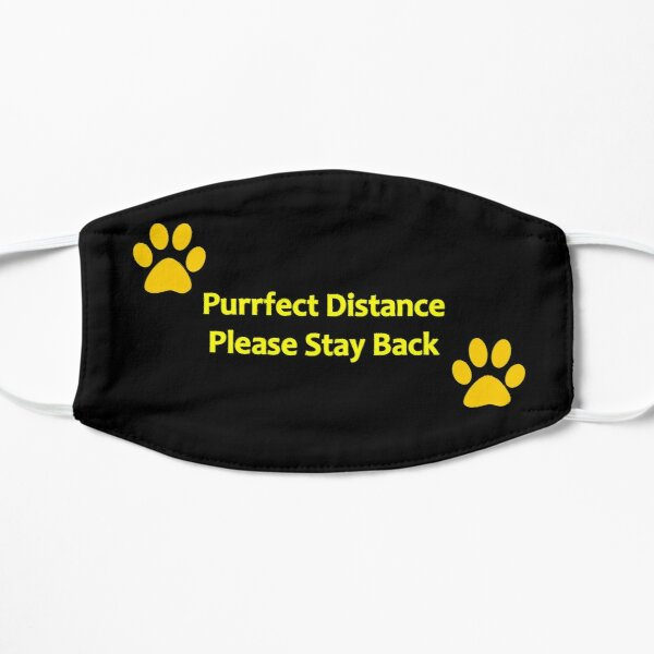 A purrfect design to keep your distance! Flat Mask