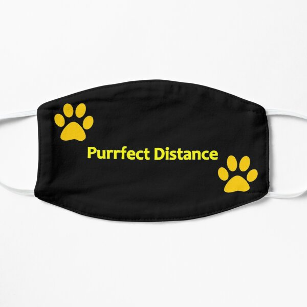 Purrfect Distance! Flat Mask