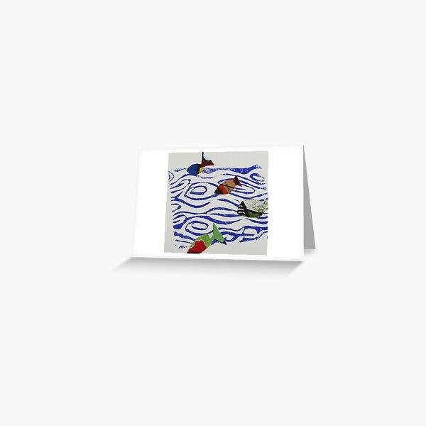 Blue Fish Greeting Card