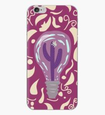 Another Colorful Cactus in a Bulb iPhone Case