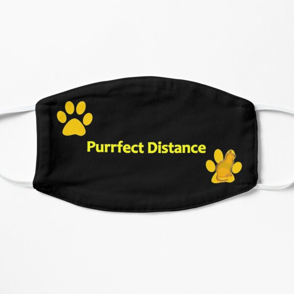 The Purrfect Design for Cat Lovers! Flat Mask