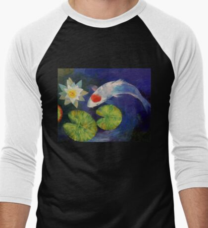 Tancho Koi and Water Lily T-Shirt