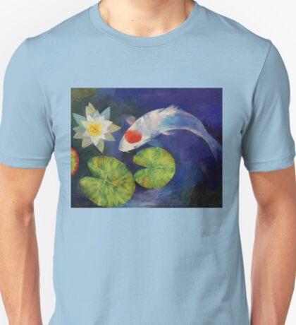 Tancho Koi and Water Lily T-Shirt