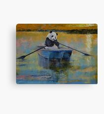 Panda Reflections Canvas Print